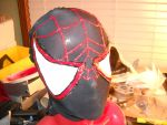 Miles Morales Spider-Man Mask Progress by Kaji-Wolf