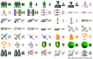 Military Icon Set by military-icons