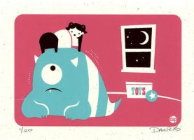 There is a Kid Over My Bed by Montygog