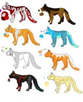 Cat Adoptable Sheet 4(open) 5 POINTS EACH by XTwilight-SerenityX