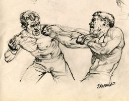 Fight Sketch by PAllora