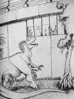 The new exhibit at Jurassic World by artisticallyautistic