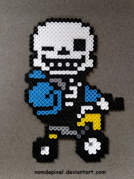 Undertale Sans on a Tricycle Perler by NomDePixel
