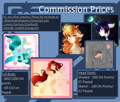 ~Commission List~ by MajesticWhaleQueen