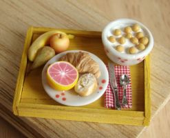 Yellow Breakfast Tray by PetitPlat