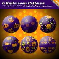 Walloween Pumpkin Photoshop Patterns by Romenig