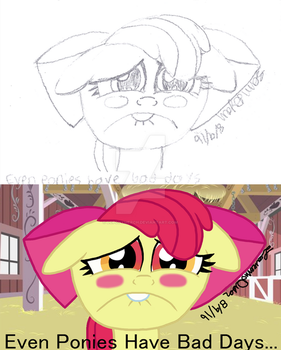 Even Ponies have bad days aawww by lcponymerch