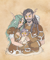 Commission: An Elven Family by SketchyBailey
