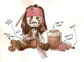 Jack Sparrow plushie by M-E-Lee
