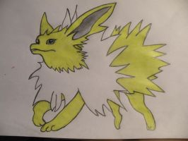 Jolteon colored by Gwenvar
