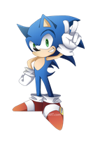 Sonic The Hedgehog by MoonlightTheWolf