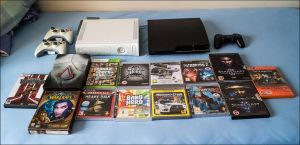 Some of my games and consoles by apple-yigit-jack