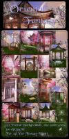 Oriental Fantasy backgrounds by moonchild-ljilja