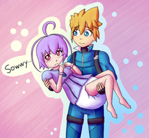 Joule and Gunvolt by Hira-Dontell