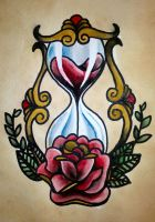 Traditional tattoo 'Hourglass' by Psychoead