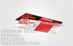 Premium Quality Ticket Design Freebies by UJz
