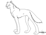 free wolf lineart : 2 by Cirothe