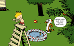 Calvin and Hobbes: Swimming by xX-Pureness-Xx