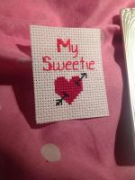 My Sweetie and heart (Cross stitch) by martinthomson