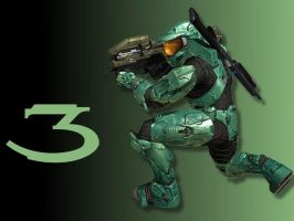 Halo 3 Wallpaper - Green by Joeshmoe59697