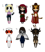 Adoptables #8 ~ [CLOSED] by Hailey-Adopts