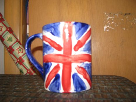 Union Jack/British Flag Mug by ShadowWolfZ