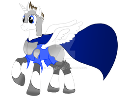 Yours Truly, in his regal pony armor by MLP-Sage