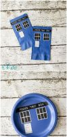 Doctor Who Paper Napkins and Plates by tikkido