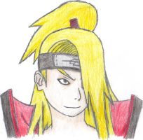 Deidara drawing -2- by DenieraKnight