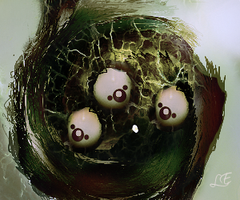 EGG NEST smudge by Sirenzo