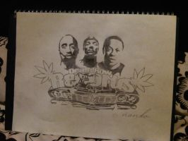 Deathrow Records 2pac Snoop Dogg DrDre by SeanJJ