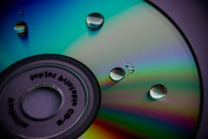 Cliche Droplet on CD by droy333