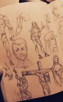 Doodling on the line by marvelmania