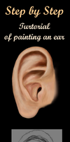 Step by step painting an ear by Elysinos