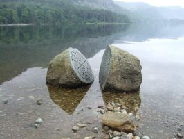 Key Stone in the Lake by RoxieFang