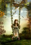 Swing in the autumn by CindysArt