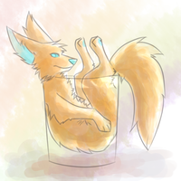 A nice tall glass of by Eidride
