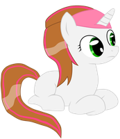 First Pony View - Rosy Stripes in Headband by Seven-Fates