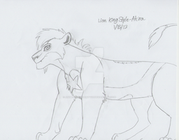 Lion King Style - Akira (WIP) by AnimeFan4Eternity23