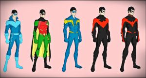 Dick Grayson - The New 52 Evolution by DraganD