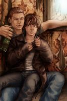 Beer and a Pile of Winchester by loonylucifer