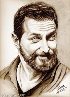 Richard Armitage, shining (sepia version) by jos2507