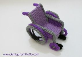 Crochet Wheelchair by sojala