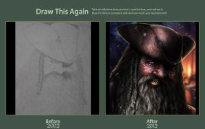 2002 - 2012 draw it again challenge ( pirate ) by AtomiccircuS