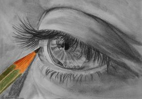 Eye drawing by WitchiArt