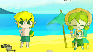 Saria Around The World : Beach - LTE-T AnimaTion by LeTourbillonEnchanT