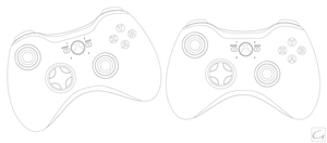 XBOX 360 Controller Outline by GHussain