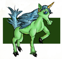 A really bad unicorn by arielthealien