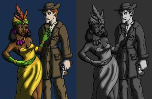 Howard Hoe and the Mandingo Dame by DaBrandonSphere