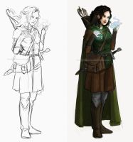 Sketch Character Concept 01 by LonelyFullMoon